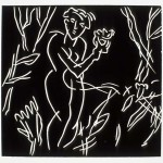 """Dark Garden State II, 1985 linocut, 6"""" x 6.4"""", edn 12"""