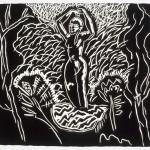 "Exedra, 1985 linocut, 11"" x 12.5"", edn 15"