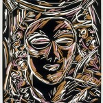 "The Stranger, 1986 linocut, 10"" x 8"", edn 14"