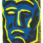 "Small Relief I 1987 linocut 4.0"" x 2.8"" edn 15"