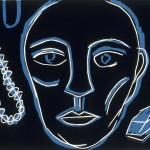 """Jewels, 1990 linocut, 6.5"""" x 9"""", edn 14"""