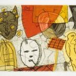 """Bird Catcher *, 1994 etching, 2.6"""" x 3.9"""", EDN 30"""