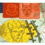 """King O' Nuttin *, 1994 etching, 2.6"""" x 3.9"""", EDN 30"""
