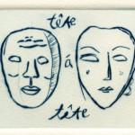 Tete a Tete, 1992 drypoint, 2.8 x 3.9 edn 10