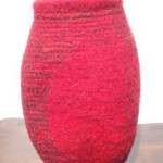 "Untitled (kp106) knitted felt 12"" h private collection"