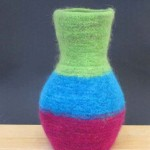 "Untitled (kp107) knitted felt 14"" h private collection"