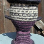 "Pyxis 4/21/05 knitted felt 14"" h private collection"