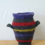 "Untitled (kp38) knitted felt 12.5"" h"