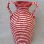 "Amphora 7/04 knitted/ felt 16.5"" h"