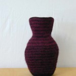 "Untitled (kp60) knitted felt 13"" h private collection"