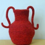 "Untitled (kp64) knitted felt 13"" h"