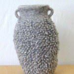 "Marl Loop Pot knitted felt 15.5"" h private collection"