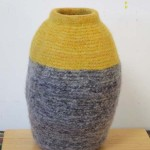 "Untitled (kp78) knitted felt 17"" h"