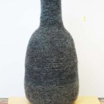 "Untitled (kp80) knitted felt 23.5"" h"