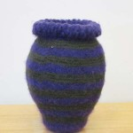 "Untitled (kp90) knitted felt 12"" h"