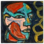 "Polychromed Head, 1993 monotype, 4.3"" x 4.3"""