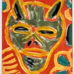 "Devil I, 1993 monotype, 4.8"" x 4.3"""