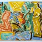 """Garden I, 1993 monotype, 8.8"""" x 11.9"""""""