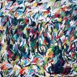 """A Corner Garden 1982, oil on canvas 65"""" x 112"""""""