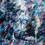 "Gray Garden 1982, oil on canvas 65"" x 56"""