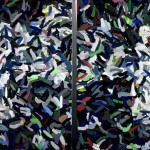 "La La 1982, oil on canvas 54"" x 106"""