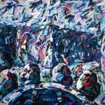 "Semiformal Garden 1982, oil on canvas 65"" x 112"""