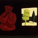 "A Coincidence 1983, oil on canvas 45"" x 57"""