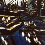 "Black Garden 1984, oil on canvas 66"" x 73"""