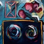 "Gray Garden #2 1984, oil on canvas 50"" x 57"""