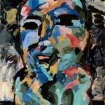 "Big Head 1988, oil on canvas 44"" x 36"""