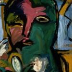 "Head of Iris 1988, oil on canvas 30"" x 24"""