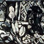 "Feast 1989, oil on canvas 48"" x 65"""